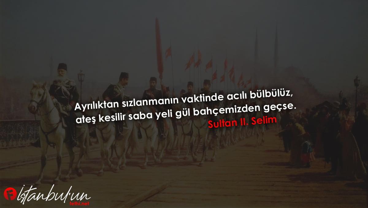 Sultan II. Selim Sözleri